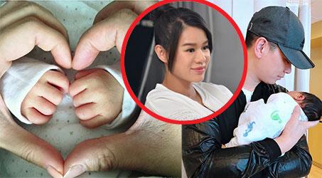 Hồ Hạnh Nhi công bố đã sinh con trai nặng 3,6kg