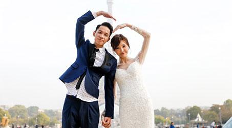 [Hình ảnh] Vợ chồng Ngô Nhược Hy chụp ảnh cưới tại Paris