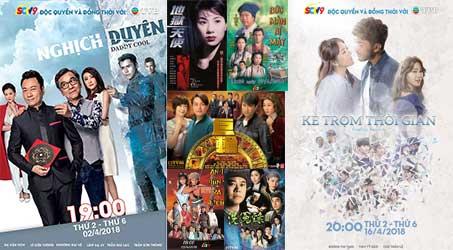 Những bộ phim TVB dự kiến phát sóng trên SCTV9 trong tháng 4/2018