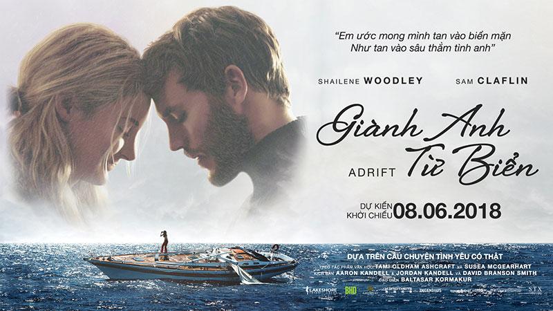 """Tài tử đẹp trai của """"Me before you"""" xuống sắc tàn tạ, lạc trôi ngoài biển khơi trong phim """"Giành Anh từ biển"""""""
