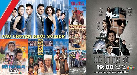 Những bộ phim TVB dự kiến phát sóng trên SCTV9 trong tháng 9/2018