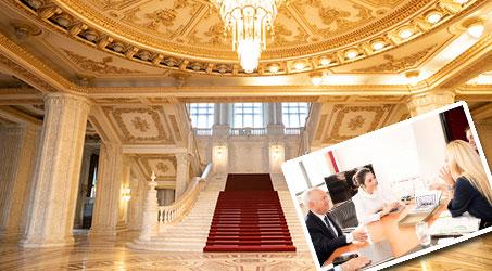 Cùng Lý Nhã Kỳ khám phá vẻ đẹp Tòa nhà quốc hội lớn nhất Romania