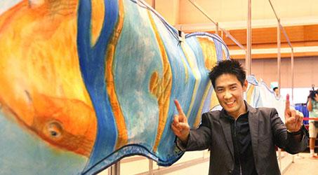 Trần Chi Tài trở lại với vai trò họa sĩ cùng bức tranh dài hơn 600m, lập kỷ lục Guinness