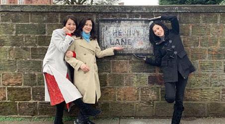 Tuyên Huyên, Hồ Hạnh Nhi và Trần Tuệ San cùng du lịch Anh quốc